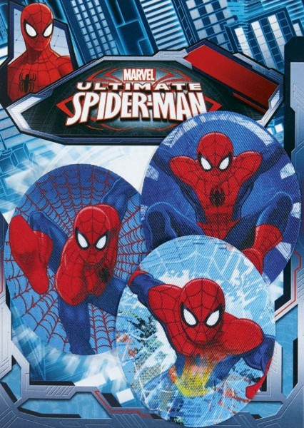 Marvel Spiderman * 3er Set * Applikationen Aufbügel Flicken Bügelbilder * Marvel Ultimate Spider-Man