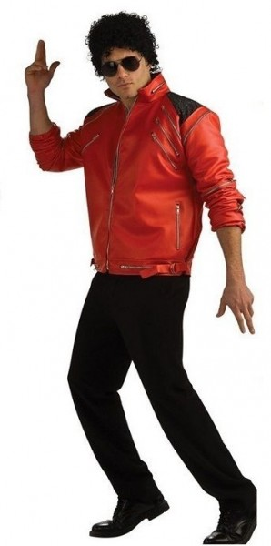 Michael Jackson Deluxe Jacket * Beat It Jacke * KING - rot