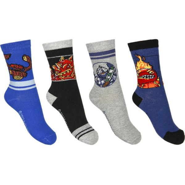 Skylanders Giants Kinder Socken im 4er Pack, Set Socken Strümpfe