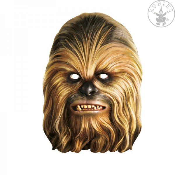 Rubies Card Mask - Chewbacca, Star Wars, Maske aus Pappe