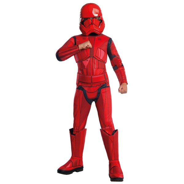 Rubies 3701277 - Sith Trooper Red Stormtrooper Deluxe EP. IX - Child, Star Wars