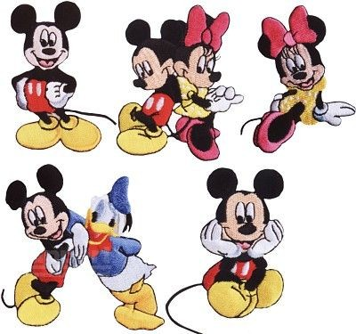 Disney 925137 Mickey Mouse Applikation - Micky Minnie Maus Donald Duck