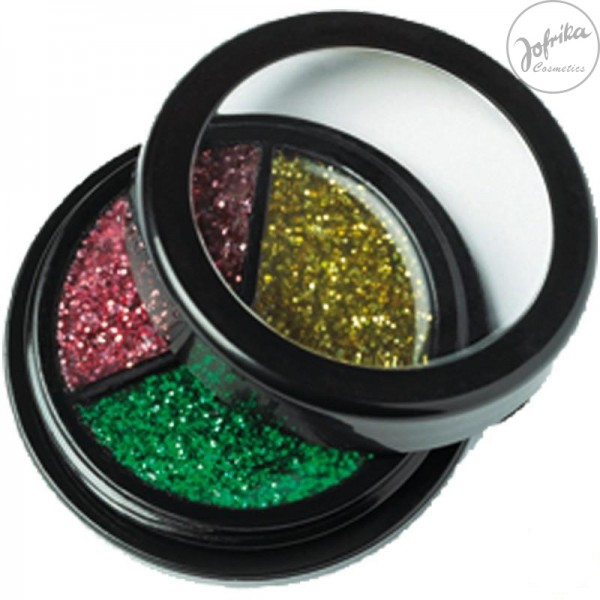Glitzer Body make up * Jofrika * Karneval * Schminke * Glitter Trio * 712107