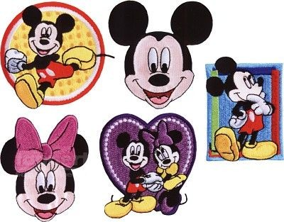 Disney 925139 Mickey Mouse Applikation - Micky Minnie Maus