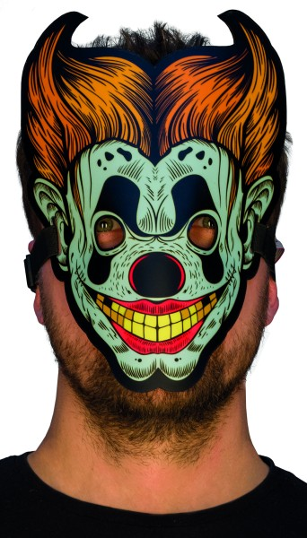 Rubies Leuchtende LED Masken, 6240107 - Horror Clown