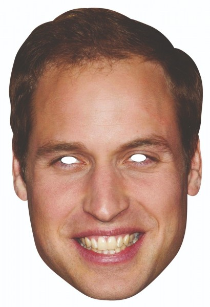 Rubies Card Mask, Prince William, Kate oder Charles