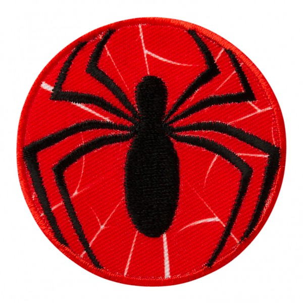 Mono Quick 16253 Spider-Man Logo SPINNE rot/schwarz, Applikation, Flicken Bügelbild, Marvel Avengers