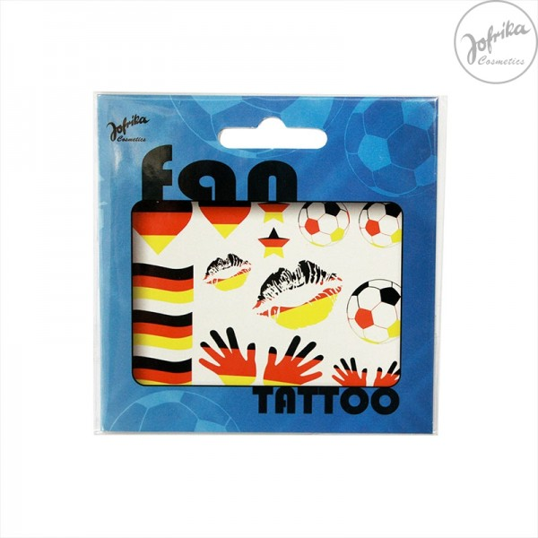 Fan Schminke Deutschland von Jofrika Cosmetics WM EM Fan Tattoos Set