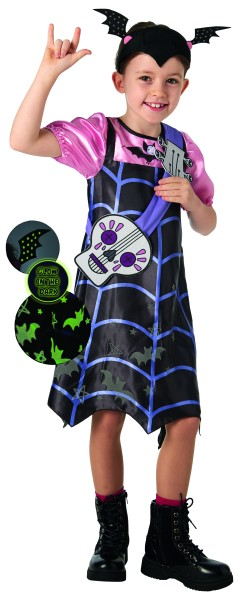 Rubies 3300276 - Vampirina Glow in the Dark Deluxe, Halloween Kinder Kostüm