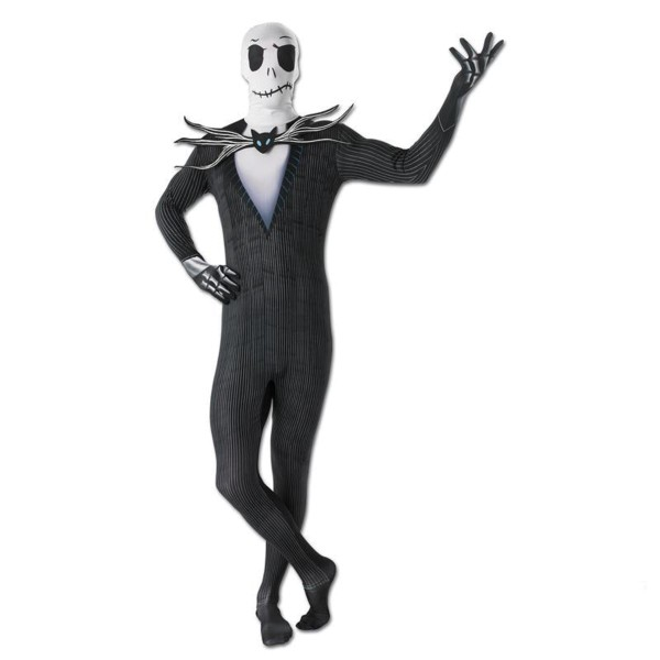 Rubies 3887422 - 2nd Skin Jack Skellington, Halloween Horror - Skelett Overall