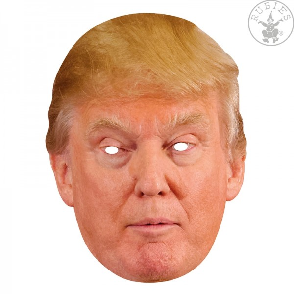 Rubies Card Mask - Donald Trump, Maske aus Pappe