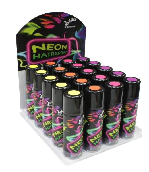 Jofrika 70660x Neon Spray 125ml, Neon Spray in pink gelb violett rot