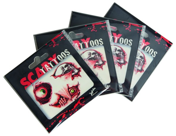 Jofrika 704051 - Scary Tattoos, Gruselig Horror