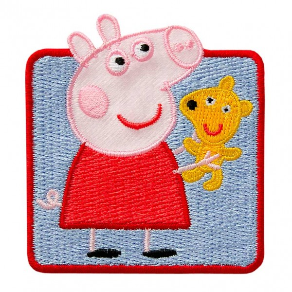 Mono Quick 18372 - Peppa mit Teddy Applikation, Peppa Wutz