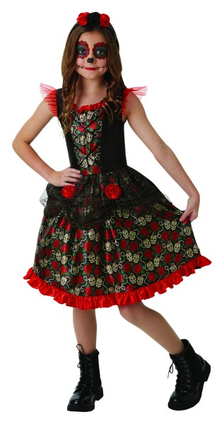 Rubies 2640059 - Red Rose Day of the Dead, XL 9-10 Y