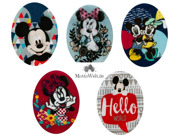 MQ Disney Mickey Minnie Maus Applikationen Oval